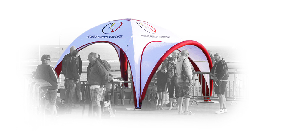 inflatable tent on golf event